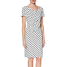Buy Gina Bacconi Barbara Spotted Crepe Dress, Black/White Online at johnlewis.com