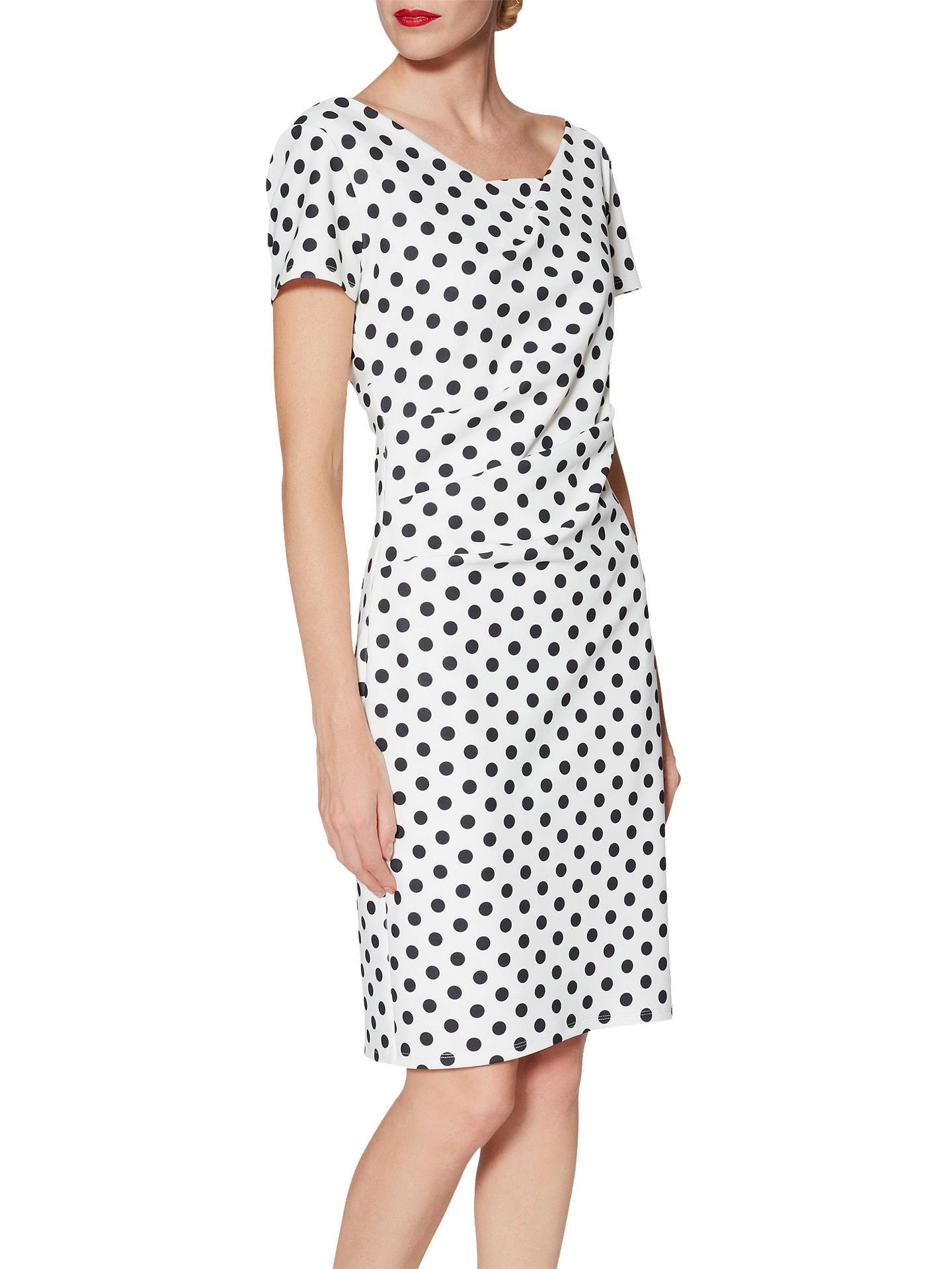 c08b909c0f7 ... Buy Gina Bacconi Barbara Spotted Crepe Dress