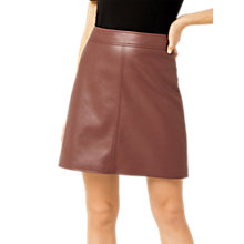 Buy Warehouse Barbican A-Line Skirt, Tan Online at johnlewis.com