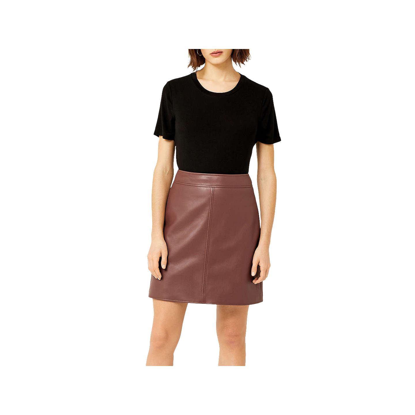 BuyWarehouse Barbican A-Line Skirt, Tan, 6 Online at johnlewis.com