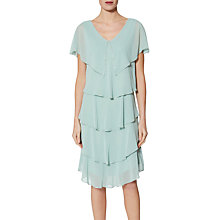 Buy Gina Bacconi Roxanna Cape Dress, Sage Online at johnlewis.com