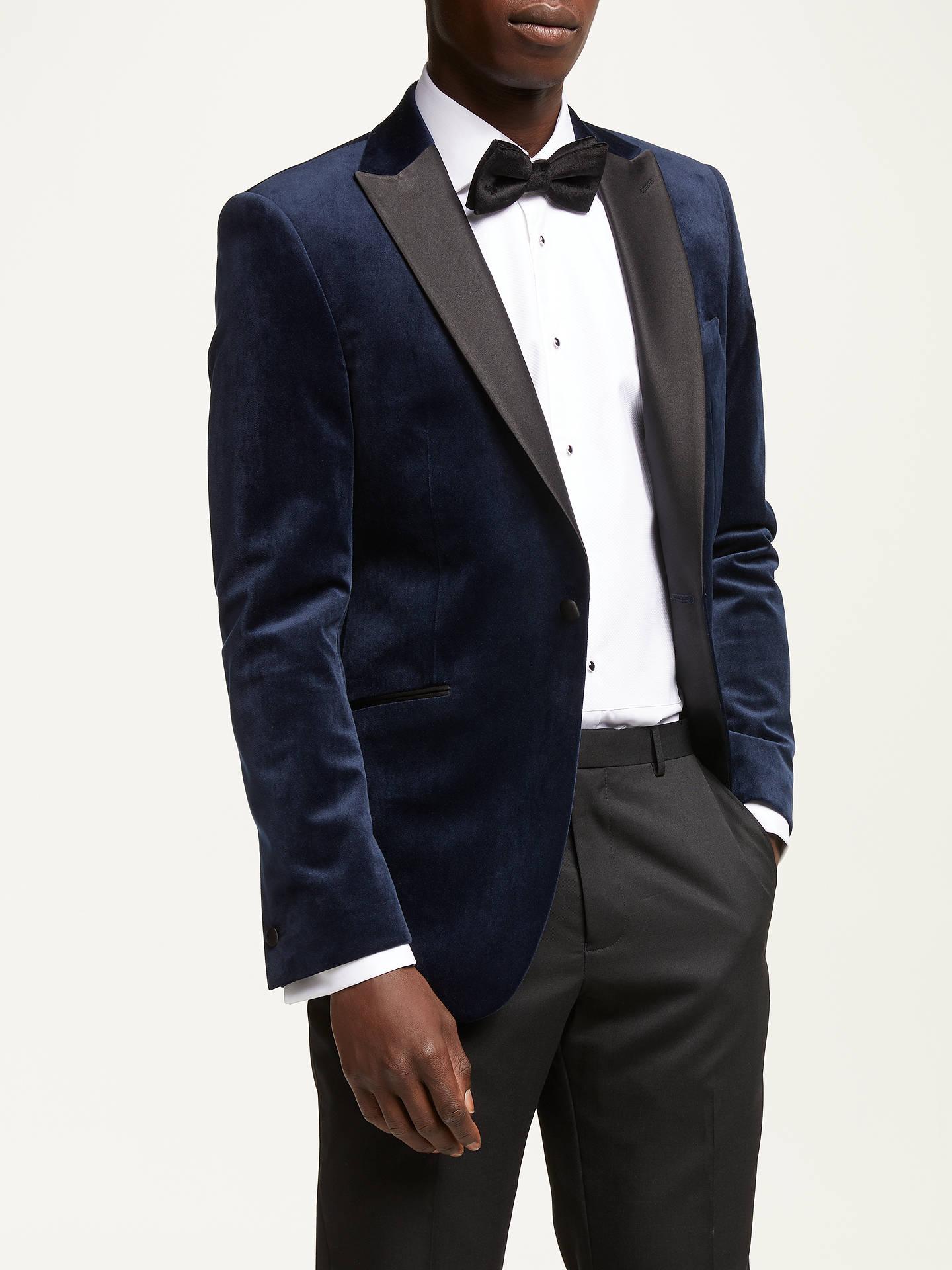 Velvet blazer Navy | Jackets and
