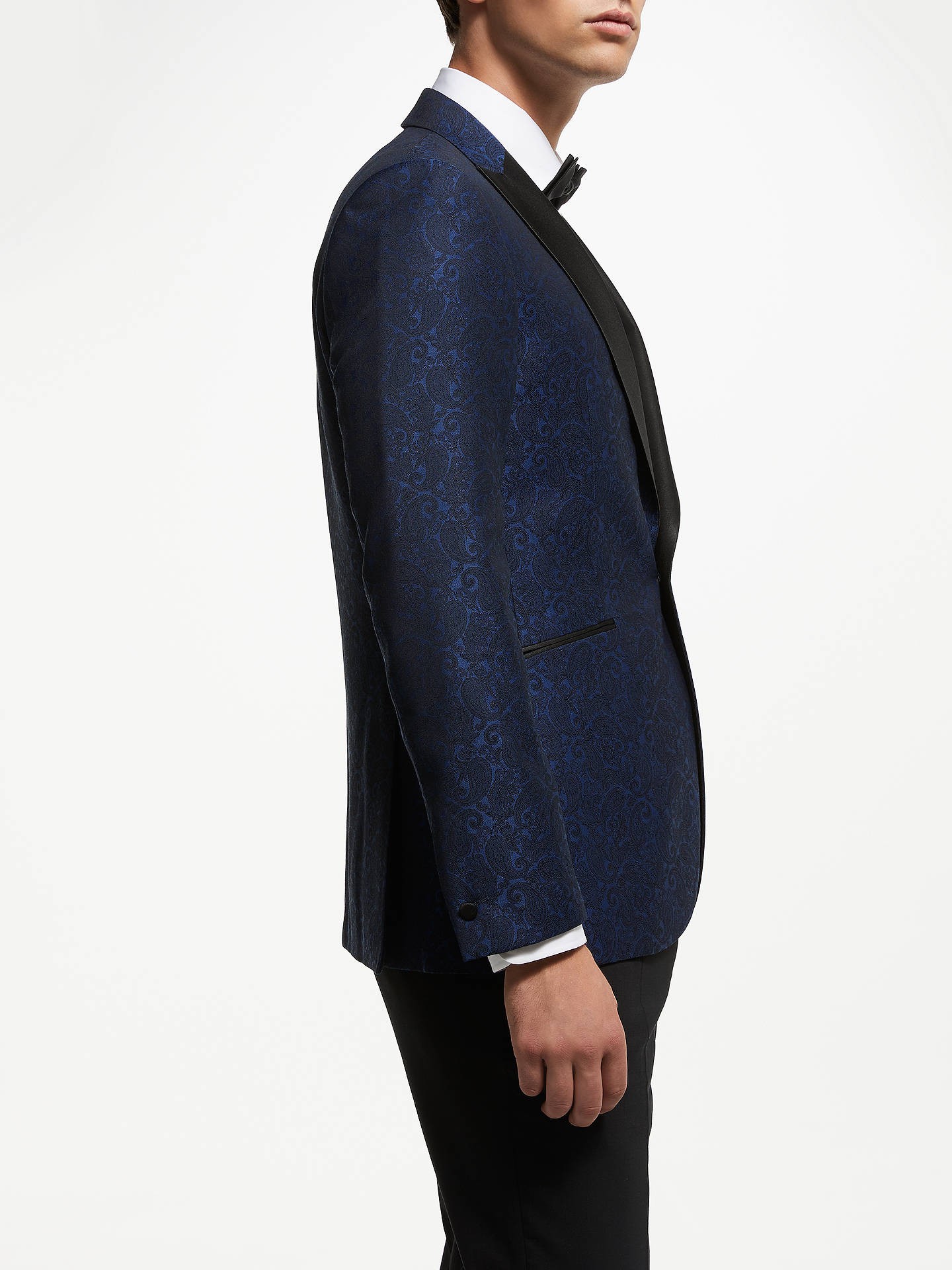 BuyJohn Lewis & Partners Paisley Dress Suit Jacket, Electric Blue, 40L Online at johnlewis.com