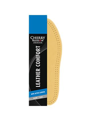 Cherry Blossom Leather Comfort Insoles, Natural