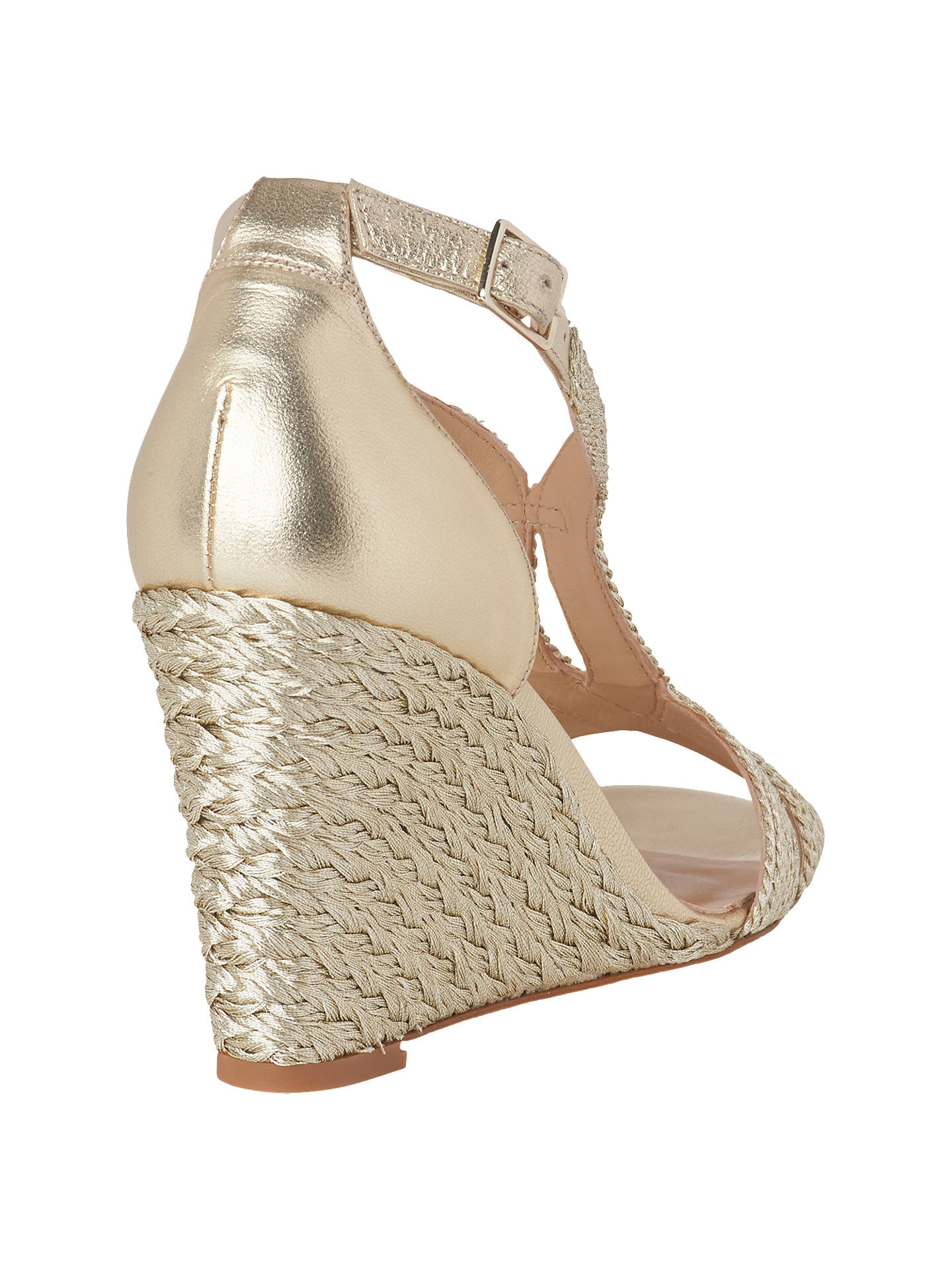 Gold k L Wedge Sandals bennett amp; Partners At John Mali Lewis Soft Heel Sww0Rd