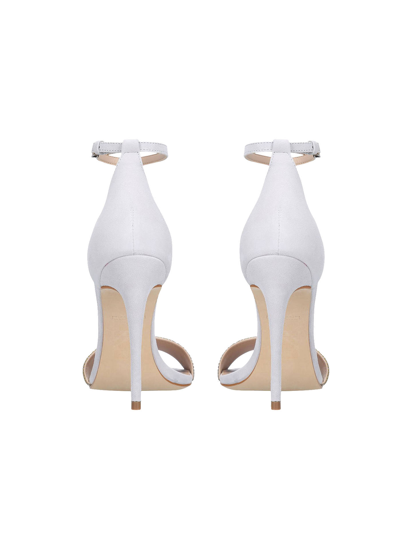 BuyCarvela Gideon High Heel Sandals, Suede Grey, 8 Online at johnlewis.com