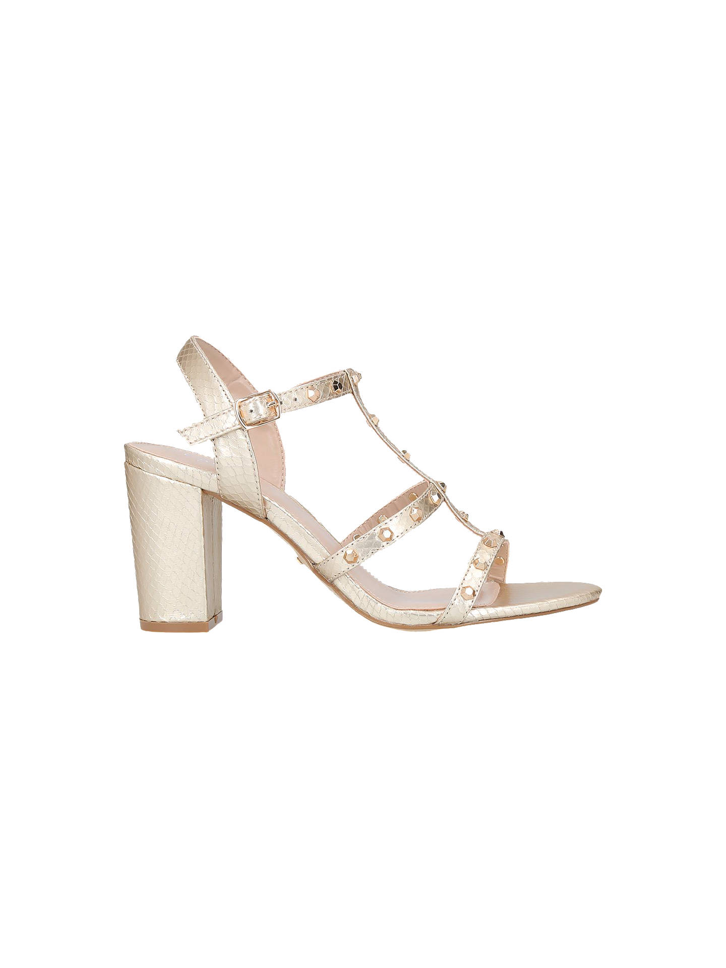 BuyCarvela Kansas Block Heel Sandals, Gold, 3 Online at johnlewis.com