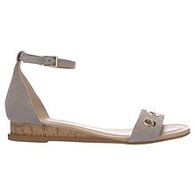 Buy Mint Velvet Natalie Flat Sandals, Grey Suede Online at johnlewis.com