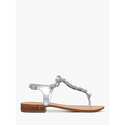Carvela Bebe 2 Sandals, Silver Leather