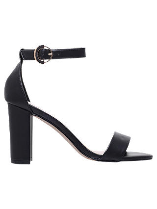 Buy Carvela Loyal Block Heel Sandals, Black, 3 Online at johnlewis.com