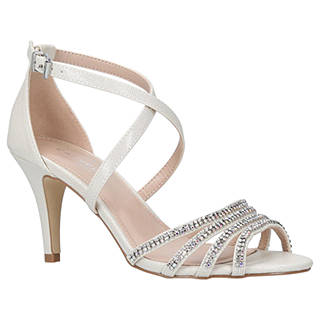 Carvela Laurel Crystal High Heel Sandals, Silver