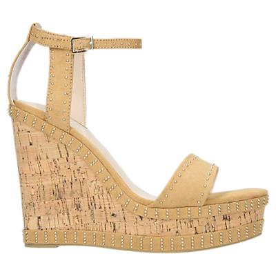 Carvela Kissmee Studded Wedge Heel Sandals, Camel