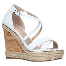 Buy Carvela Sublime Cross Strap Wedge Heel Sandals, White Online at johnlewis.com