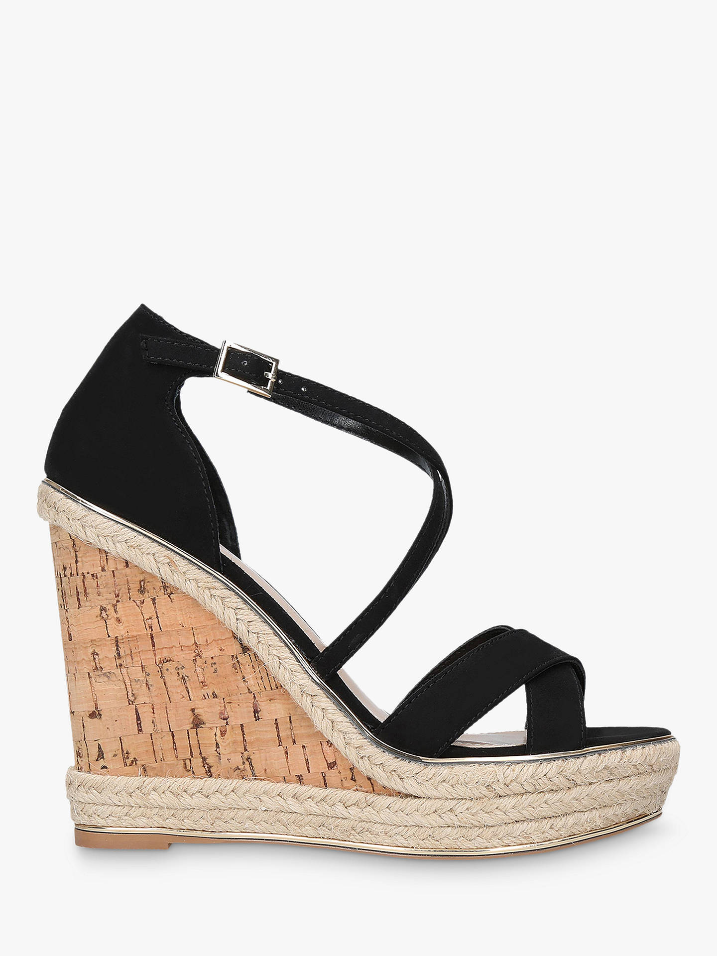 BuyCarvela Sublime Wedge Heel Sandals, Black, 3 Online at johnlewis.com