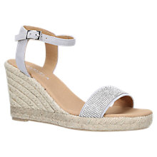Buy Carvela Krystal Wedge Heel Sandals, Grey Suede Online at johnlewis.com
