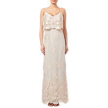 Buy Adrianna Papell Embroidered Popover Dress, Almond Online at johnlewis.com