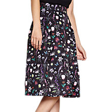 Buy Yumi Botanical Jacquard Skirt, Black Online at johnlewis.com