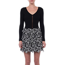 Buy French Connection Fulaga Floral Lace Mini Skirt, Black/Summer White Online at johnlewis.com