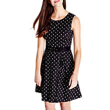 Buy Yumi Flamingo Print Skater Dress, Black Online at johnlewis.com