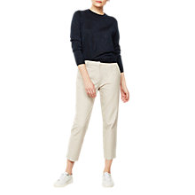 Buy Mint Velvet Cotton Cropped Trousers, Neutral Online at johnlewis.com
