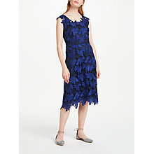 Buy Finery Moira Craft Lace Dress, Blue Online at johnlewis.com