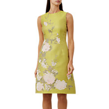 Buy Hobbs Amara Dress, Chartreuse Online at johnlewis.com