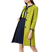 Buy Hobbs Teresa Coat, Chartreuse Online at johnlewis.com