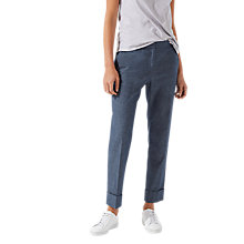 Buy Jigsaw Portofino Denim Turn Up Trousers, Chambray Online at johnlewis.com