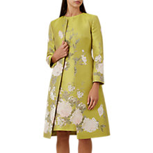 Buy Hobbs Amara Coat, Chartreuse Online at johnlewis.com