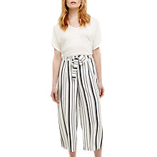 Buy Phase Eight Dinah Wide Leg Culotte Trousers, Cream Ivory/Multi Online at johnlewis.com