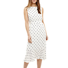 Buy Phase Eight Alison Spot Dress, Cream Ivory Online at johnlewis.com