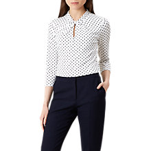 Buy Hobbs Amber Top, Ivory/Navy Online at johnlewis.com