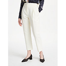 Buy Finery Oliver Cotton Linen Blend Peg Trousers, Ivory Online at johnlewis.com