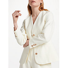 Buy Finery Agnes Cotton Linen Blend Blazer, Ivory Online at johnlewis.com