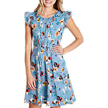 Buy Yumi Floral Day Dress, Light Blue Online at johnlewis.com