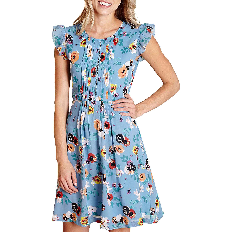 Yumi Floral Day Dress, Light Blue at John Lewis