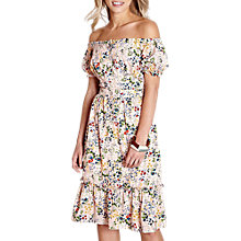 Buy Yumi Bardot Floral Dress, Light Pink Online at johnlewis.com