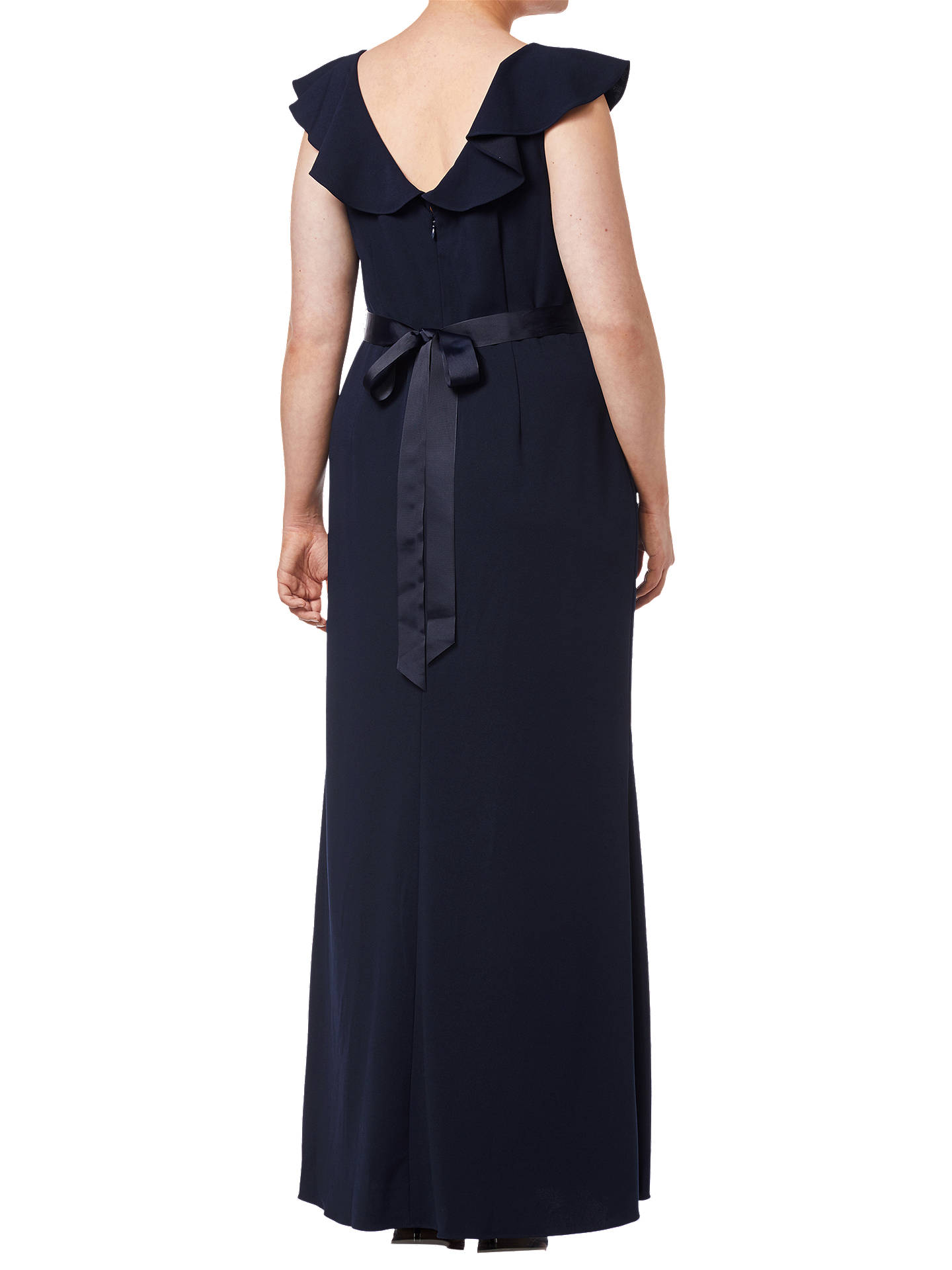 Buy Adrianna Papell Beaded Crepe Dress, Midnight, 18 Online at johnlewis.com