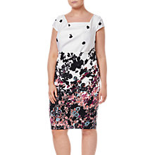 Buy Adrianna Papell Plus Size Floral Bliss Dress, Ivory/Multi Online at johnlewis.com