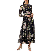 Buy Hobbs Rosabelle Dress, Navy/Multi Online at johnlewis.com