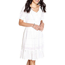 Buy Yumi Broderie Lace Frill Dress, Ivory Online at johnlewis.com