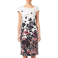 Buy Adrianna Papell Floral Bliss Dress, Ivory/Multi Online at johnlewis.com