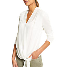Buy Mint Velvet Wrap Front Top, Ivory Online at johnlewis.com
