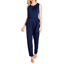 Buy Yumi Gold Necklace Jumpsuit, Navy Online at johnlewis.com