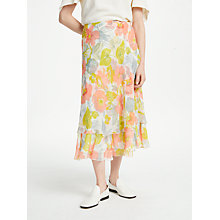 Buy Finery Balin Tiered Chiffon Skirt, Impressionist Flowers Online at johnlewis.com