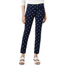 Buy Hobbs Annie Trousers, Navy/Tangerine Online at johnlewis.com