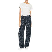 Buy Mint Velvet Summer Print Trousers, Dark Blue Online at johnlewis.com