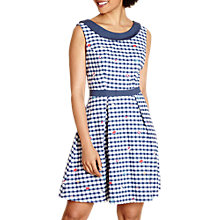 Buy Yumi Travel Print Gingham Dress, Navy Online at johnlewis.com