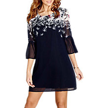 Buy Yumi Bird Print Tunic Dress, Navy Online at johnlewis.com
