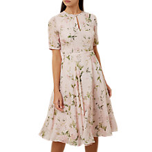 Buy Hobbs Riley Dress, Pink/Multi Online at johnlewis.com
